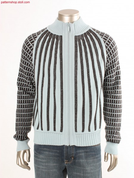 Fully Fashion cardigan with stripes / Fully Fashion Strickjacke mit Streifen