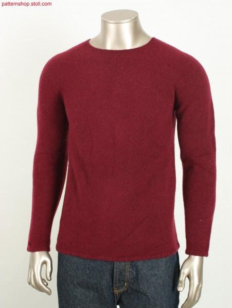 Felted jersey Fair Isle men's pullover / Gefilzter Rechts-Links Fair Isle Herren-Pullover