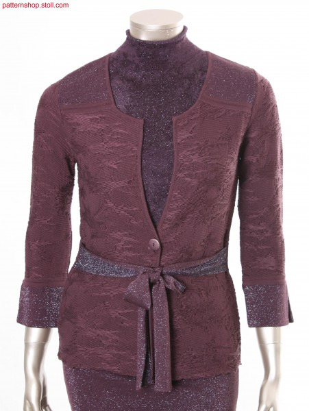 Cut and sew cardigan with pattern in float-jacquard / Strickjacke aus Schnittware mit Muster in Flottjacquard