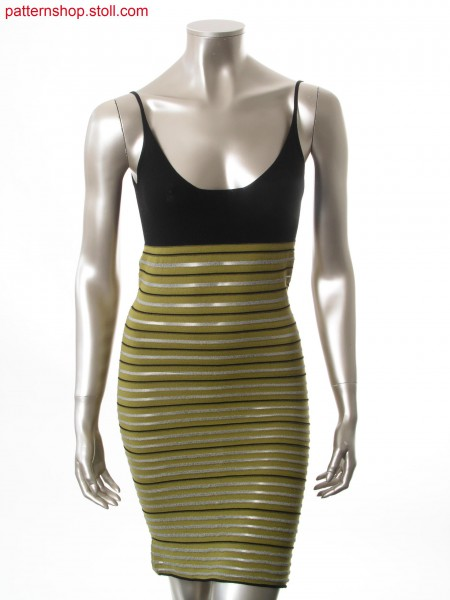 Fitted strap dress with ringed jersey structure / Tailliertes Tr