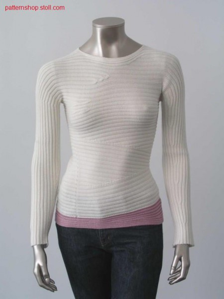 Vertical knitted pullover with intarsia / Vertikal gestrickter Intarsia Pullover