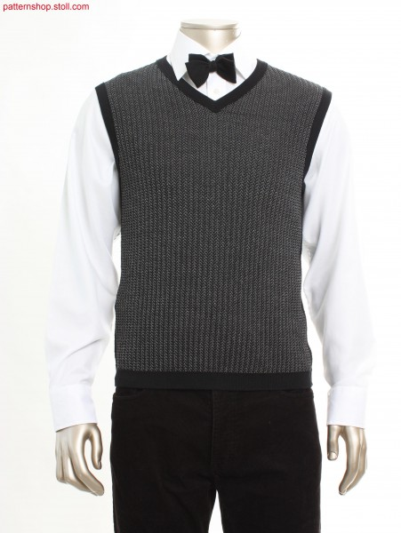 Fully Fashion V-neck slipover with French shoulder / FullyFashion V-Ausschnitt Pullunder mit franz
