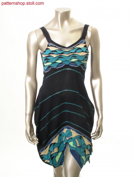Fully Fashion jersey balloon strap dress / Fully Fashion Rechts-Links Ballon-Tr