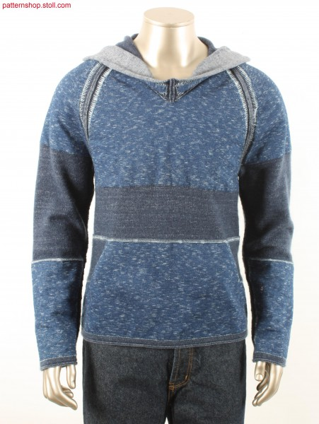 Fully Fashion hooded raglan pullover / Fully Fashion Kapuzen-Raglanpullover