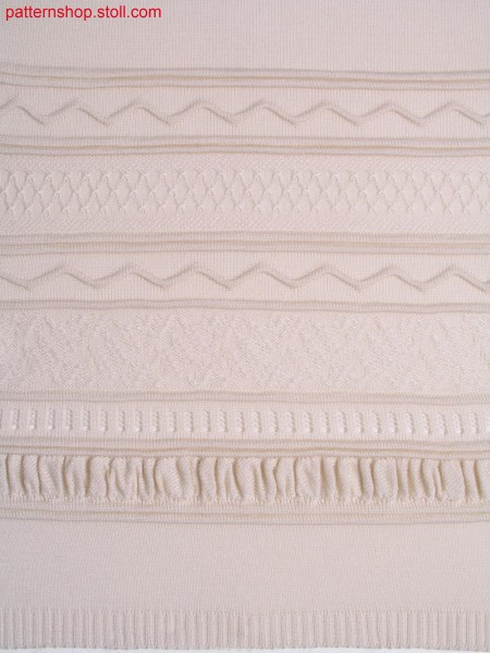 Structure pattern with wedge form border / Strukturmuster mit Spickelbord