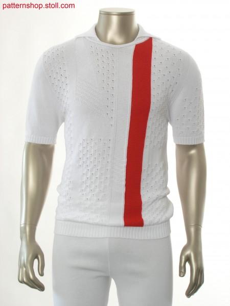 Short-sleeved pullover in jersey structure / Kurzarmpulloverin Rechts-Links Struktur