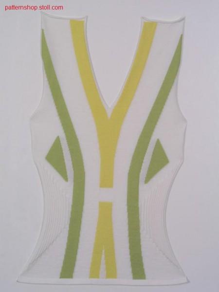 Multi colour FF-intarsia front / Mehrfarbiges FF-Intarsia Vorderteil