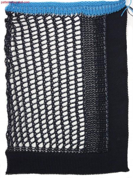 Swatch in plated 1x1 pointelle structure / Musterausschnitt in plattierter 1x1 Petinetstruktur