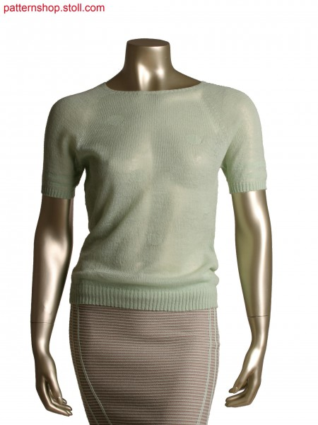 Stoll-knit and wear&reg top,all needle knitting for motif