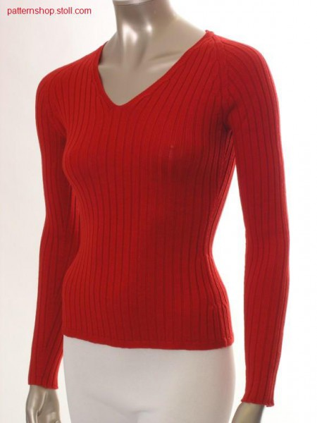 Fitted raglan pullover in 4x2 rib / Taillierter Raglanpullover in 4x2 Rippe