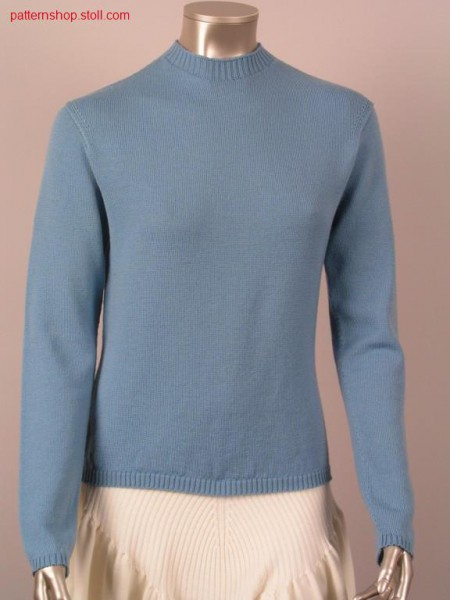 Fitted jersey pullover / Taillierter Recht-Links Pullover