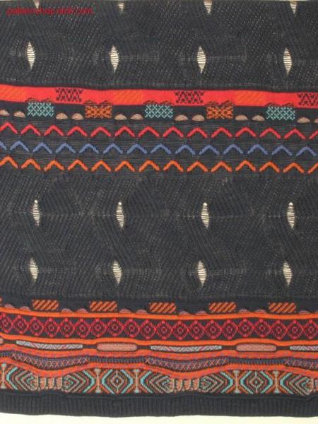 Split pattern in aran look with open waves / Split Muster inAranoptik mit offenen Wellen