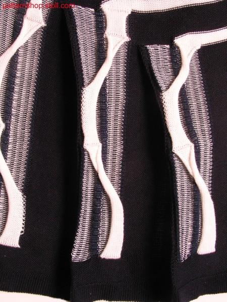 Intarsia swatch with pleats / Intarsia Musterausschnitt mit Falten