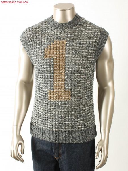 Fully Fashion Intarsia slipover / Fully Fashion Intarsia-Pullunder