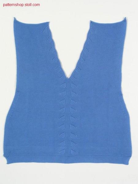 Fully Fashion front in 1x1 tuck stitch rib / Fully Fashion-Vorderteil in 1x1 Fangrippe