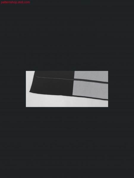 Intarsia polo collar with thread supply / Intarsia-Polokragen mit Fadenversorgung