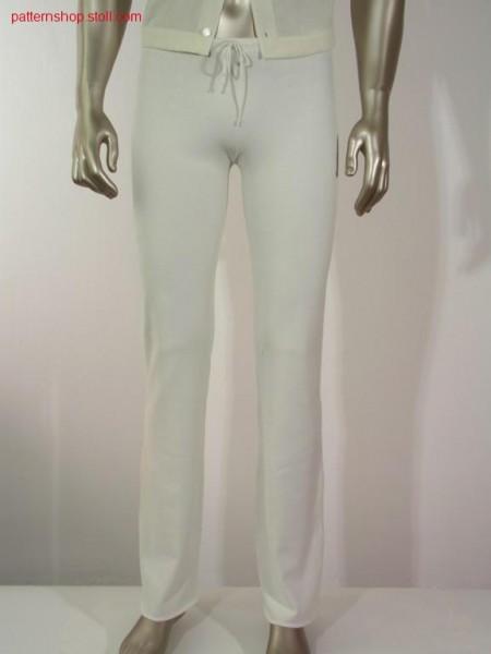 Masculine trouser in jersey / Herrenhose in RL-Strickweise.