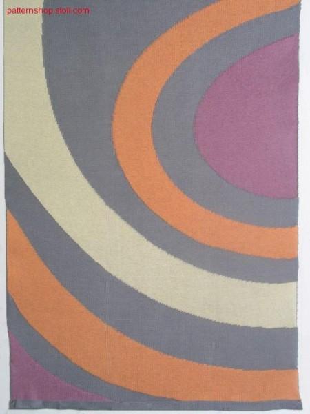 Intarsia pattern with 1x1 net back / Intarsiamuster mit 1x1 Netzr