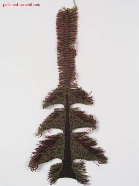 Christmas tree in cross tubular with / Christbaum in Kreuzschlauch mit Fransen