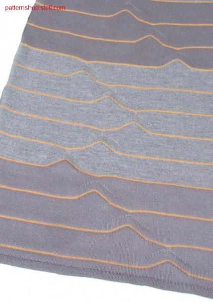 Ringed jersey wedge form pattern / Geringeltes Rechts-Links Spickelmuster