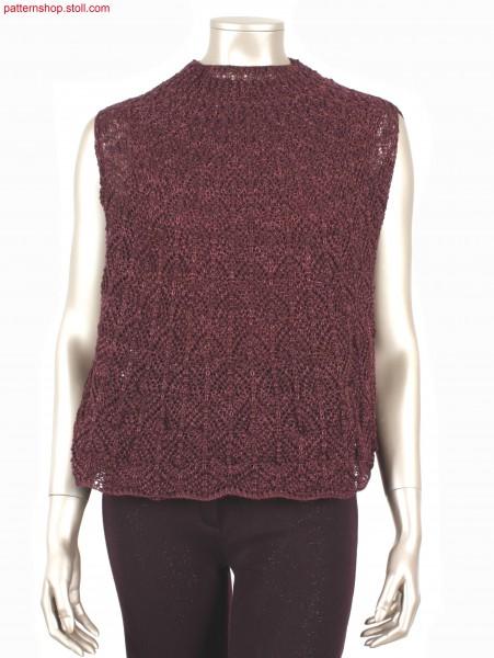 Fully Fashion cape with pointelle diamond motif / Fully Fashion Cape mit Petinet-Rautenmotiv