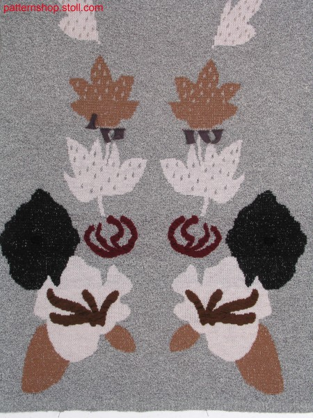 2-, 3-colour jacquard pattern with colour change / 2-, 3-farbiges Jacquardmuster mit Farbwechsel