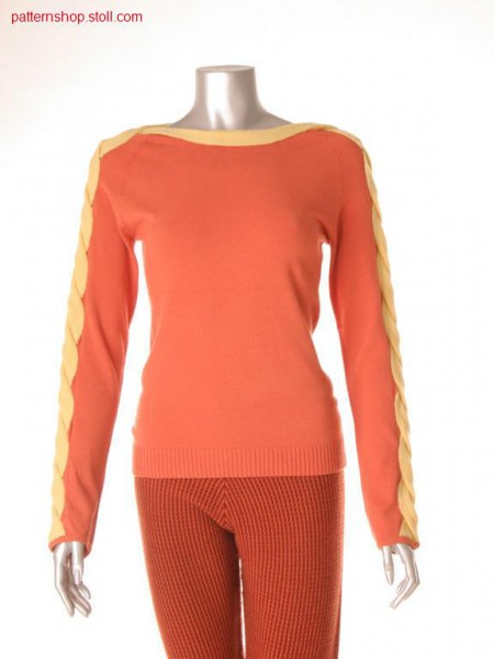 Fully Fashion jersey pullover with 2x17 cables / Fully Fashion Rechts-Links Pullover mit 2x17 Z