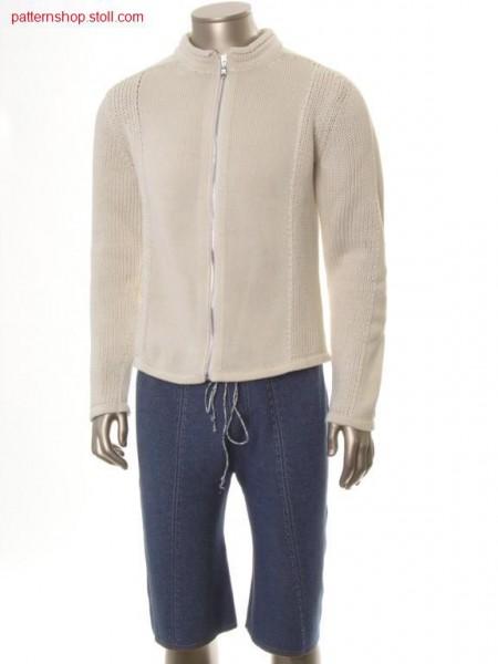FF-cardigan, body part knitted in one piece / FF-Strickjacke, Leibteil in einem Teil gestrickt