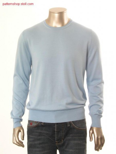 FF-jersey basic pullover with inserted sleeves / FF-Rechts-Links Basic-Pullover mit eingesetzten