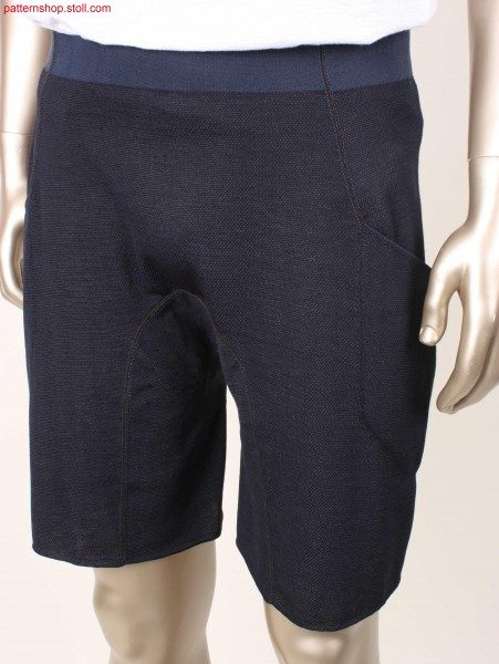 Shorts with knitted-on elastic waistband / Kurze Hose mitangestricktem elastischem Bund