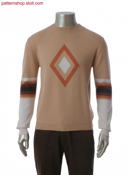 Fully Fashion pullover with 3 color intarsia