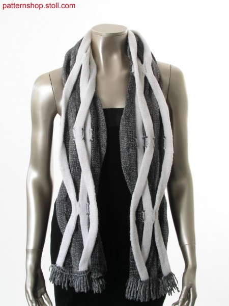 Braided scarf consisting of 9 tubulars / Aus 9 Schl