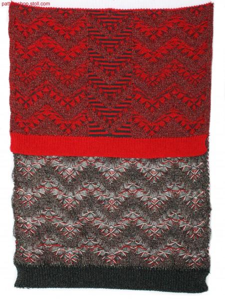 Fully Fashion swatch with plated zigzag pattern / Musterausschnitt mit plattiertem Zickzack-Muster