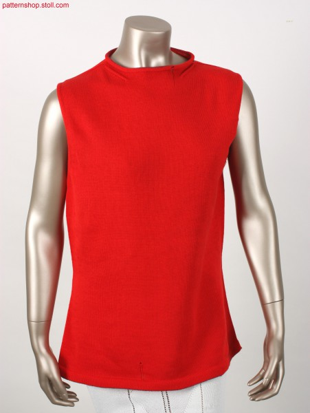 Fitted jersey top with French shoulder / Tailliertes Rechts-Links Top mit franz