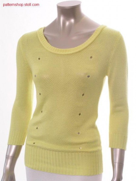 FF pullover with inserted sleeves / FF Pullover mit eingesetzten