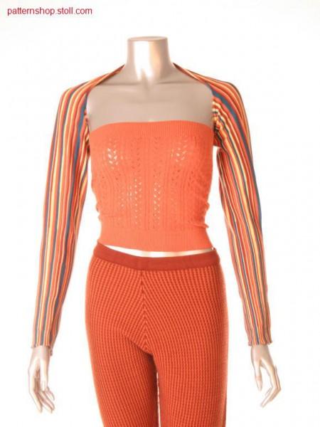 Ringed Fully Fashion shoulder warmer / Geringelter Fully Fashion Schulterw