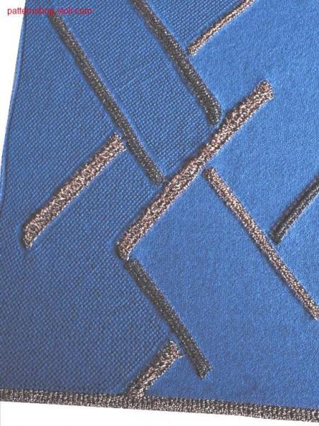 Intarsia structure pattern with floats / Intarsia Strukturmuster mit Flottungen