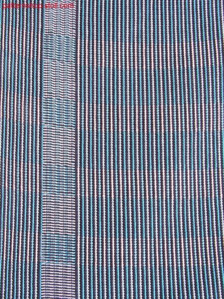 Striped swatch in weaving look with hoop effect / Gestreifter Musterausschnitt in Weboptik mit Ringeleffekt