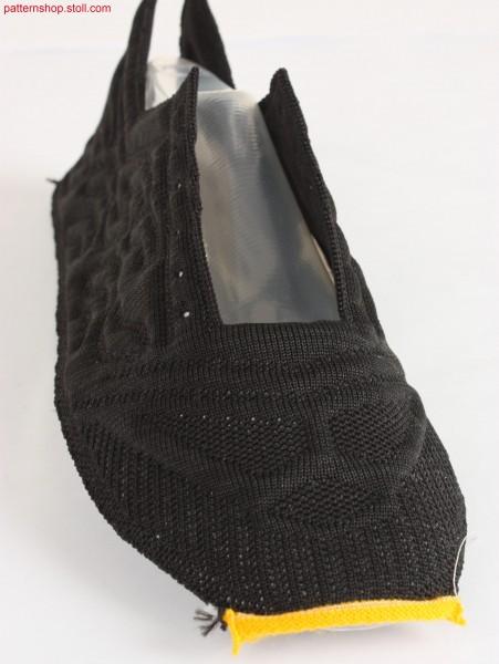 Shoe-upper with padding design / Schuhoberteil mit Wattiermuster-Design