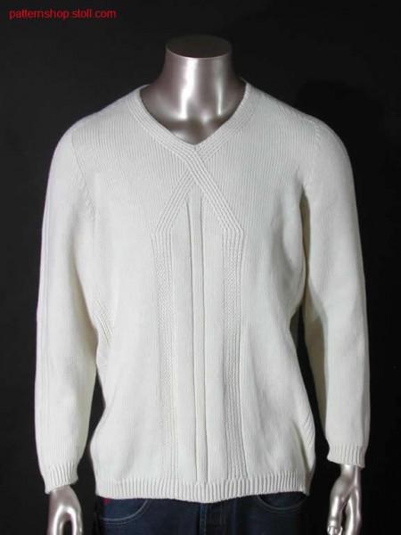 Pullover with V- neck / Pullover mit V- Ausschnitt