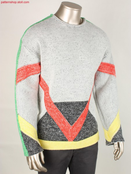 Pullover with saddle shoulder / Pullover mit Sattelschulter