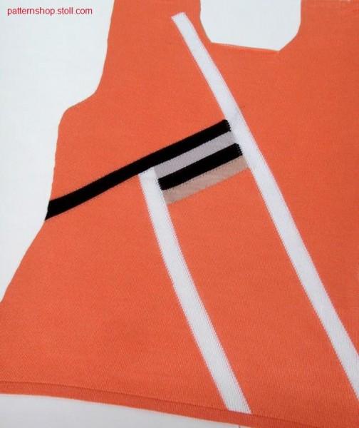 FF- intarsiafront with linked off neck / FF- Intarsienvorderteil mit abgeketteltem Halsausschnitt.