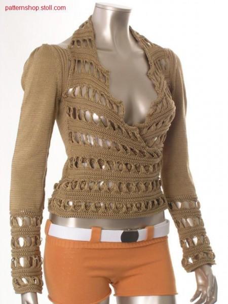 Fitted FF-overlap halter-neck pullover / Taillierter FF-Neckholder-Pullover