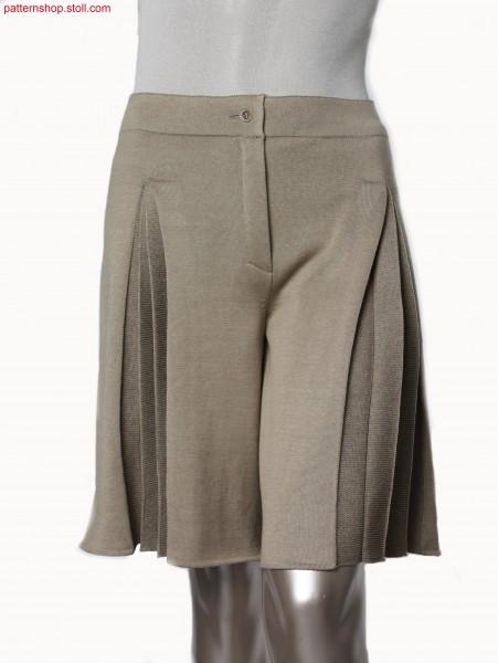 Plated jersey Fully Fashion pant skirt / Plattierter Rechts-Links Fully Fashion Hosenrock