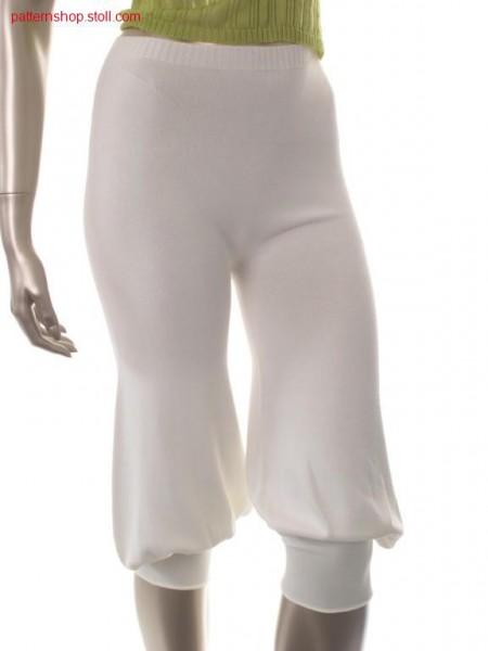 Jersey turkisch trousers / Rechts-Links Pluderhose
