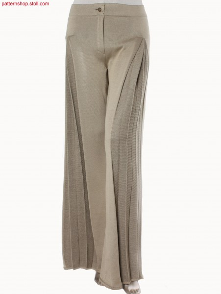 Plated jersey Fully Fashion trousers / Plattierte Rechts-Links Fully Fashion Hose