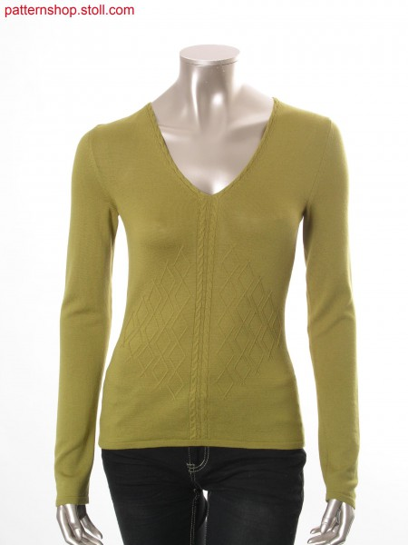 Fully Fashion pullover with 2x3 cables / Fully Fashion Pullover mit 2x3 Z