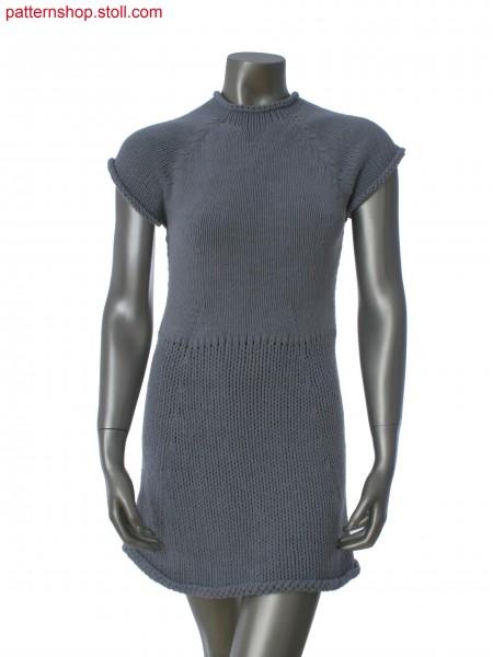 Fitted short-sleeved jersey dress / Tailliertes Rechts-LinksKurzarmkleid