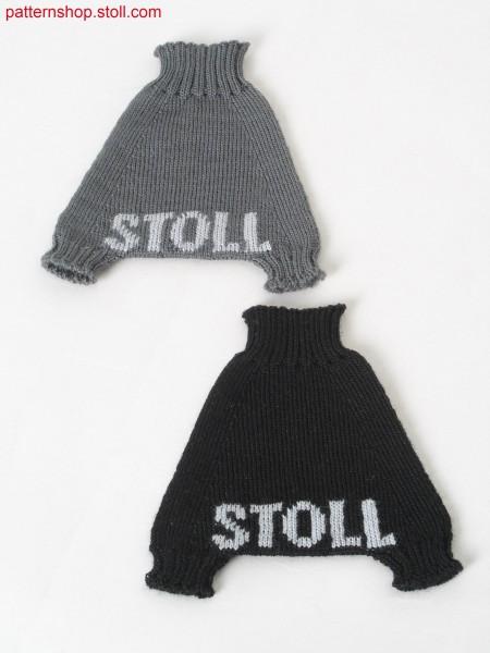 Intarsia jersey mini sarouel trousers / Rechts-Links Intarsia Mini-Sarouelhose