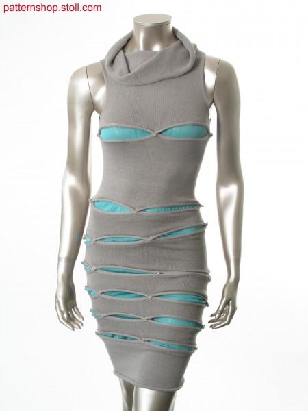 Reversible tubular dress with gore technique / Wendbares Schlauchkleid mit Spickeltechnik